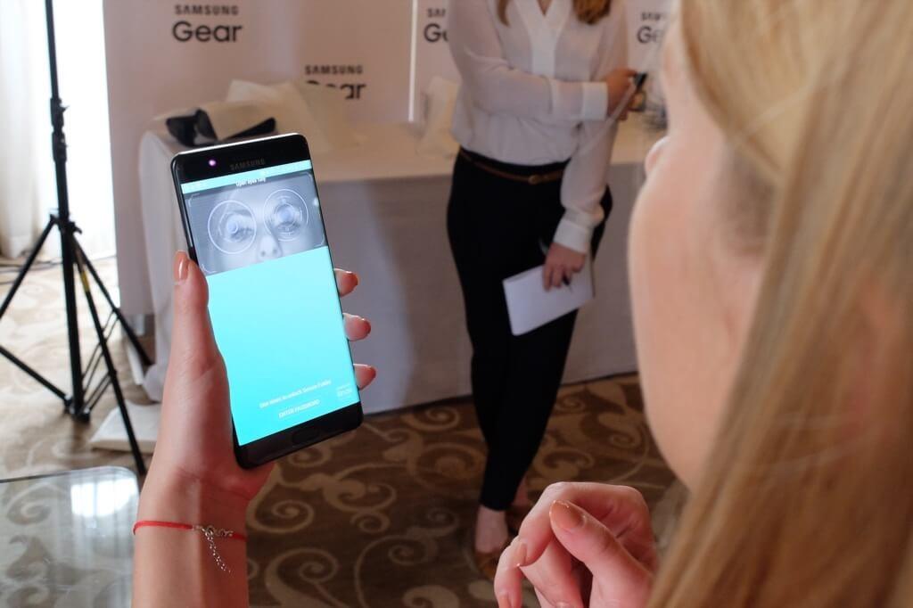 Samsung Galaxy Note 7 reconocimiento de iris
