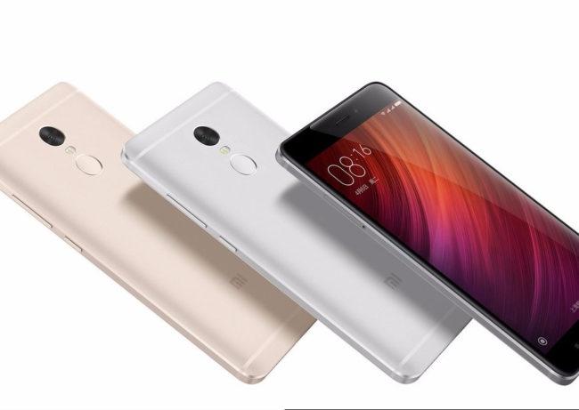 Xiaomi Redmi Note 4 dorado, plata y negro