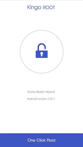Interfaz de la aplicación KingoRoot para el Samsung Galaxy S7