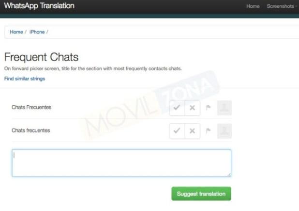 whatsapp chats frecuentes