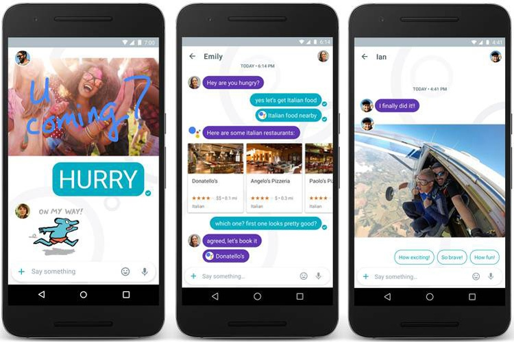 Interfaz del chat de Google Allo