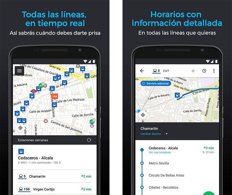 Control del horario del transporte urbano con Moovit