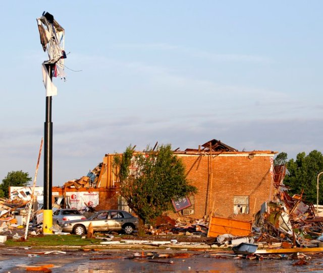 Related Photos Tornado Damage To The American Budget Value Inn Is Seen In El Reno