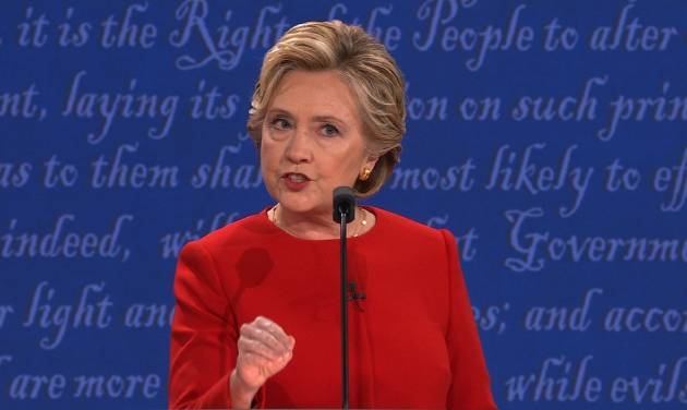 Image result for hillary clinton, first debate, photos