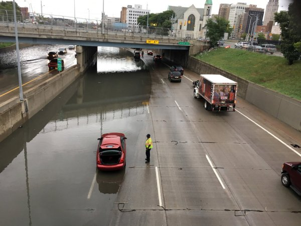 Flooding from heavy rains hits Michigan, including Detroit ...