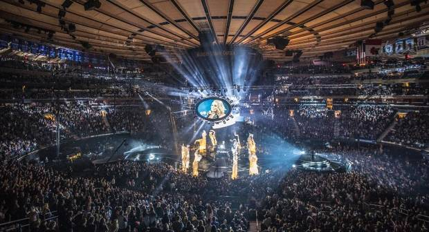 Checotah native Carrie Underwood played a sold-out show Tuesday at New York City's Madison Square Garden. Photo by Jeff Johnson