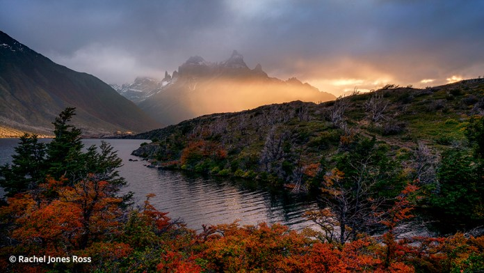 Image of a fall landscape at Torres del Paine