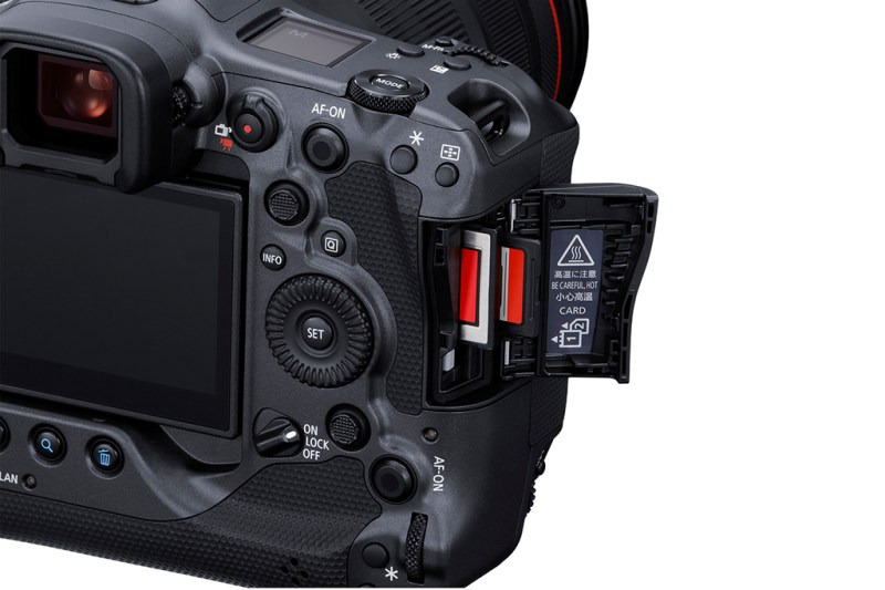 Card slots of the Canon EOS R3