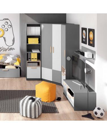 meuble tv graphite pok