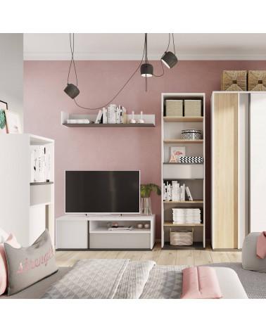 meuble tv blanc imola pour chambre adolescent