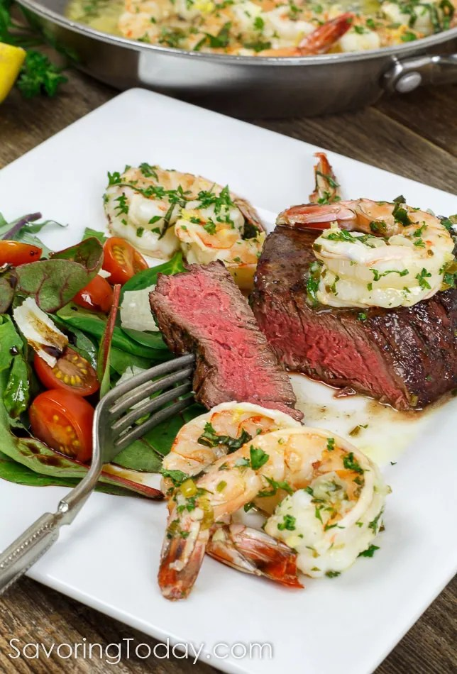 Grilled Steak And Shrimp Scampi For Two Surf Amp Turf Date