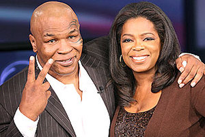 Mike Tyson speaks with Oprah Winfrey today about his daughter's death, his years in prison, his infamous fight with Evander Holyfield, and more. (Photo via img2.timeinc.net)