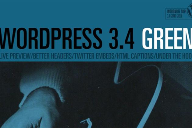 wordress 3.4 green update