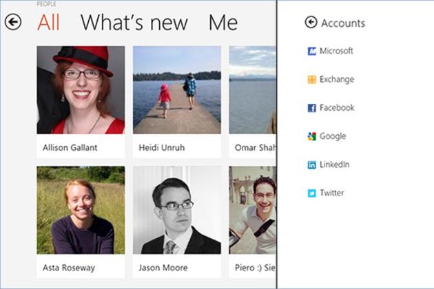 Windows 8 People App