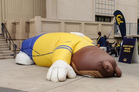 Deflated sports mascot