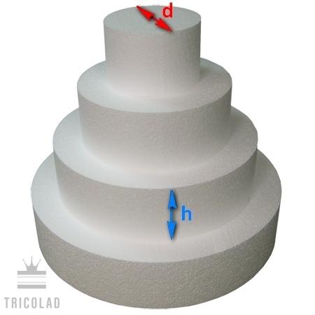 Фальш-ярус для торта, h 10 см, d 18 см, 1 шт.