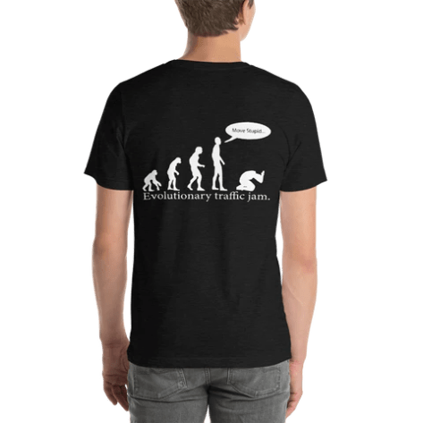 Evolutionary Traffic Jam Funny Atheist Shirt