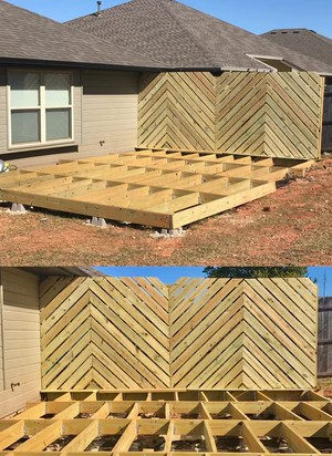 DIY Floating Deck 4 2048x - DIY Floating Deck Phase 2: Chevron Privacy Wall
