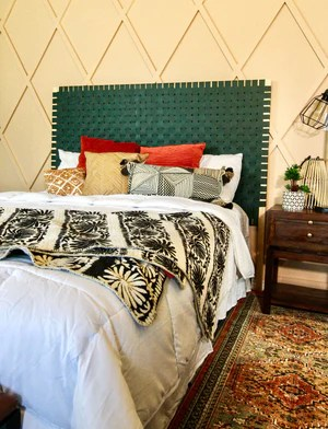 DIY Leather Woven Headboard 20 2048x - DIY Leather Woven Headboard