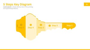 5 Steps Key PowerPoint Diagram  SlideModel