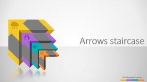 3D Four Steps Arrows Staircase PowerPoint Diagram  SlideModel