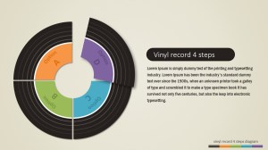 4 Steps Vinyl Record PowerPoint Diagram  SlideModel