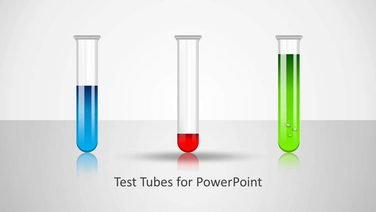 Test Tubes Shape For PowerPoint SlideModel