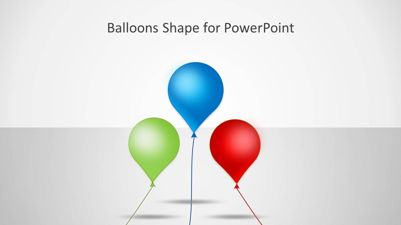 Balloons Shape For Powerpoint Slidemodel