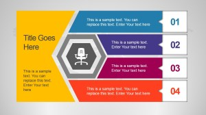 Unique Office Slide Design with Hexagon Shape  SlideModel
