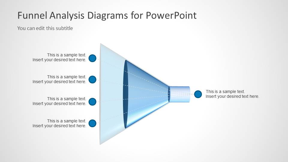 Blue Funnelysis Diagrams For Powerpoint