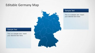 Editable Germany Map Template for PowerPoint   SlideModel     PPT Map of Germany