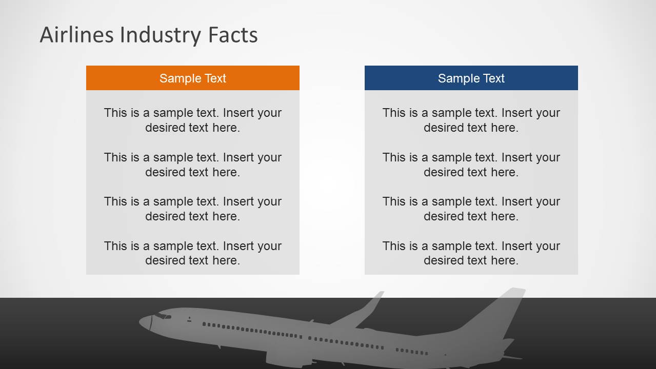 Airlines Industry PowerPoint Template SlideModel