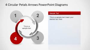 4 Circular Petals Arrows PowerPoint Diagrams  SlideModel