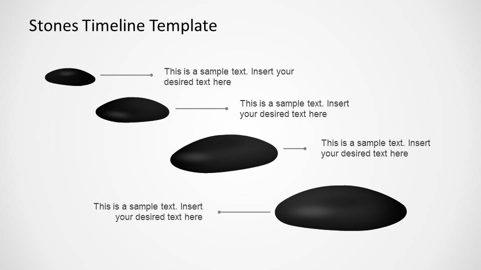 Stones Timeline PowerPoint Template   SlideModel A linear timeline with Stone milestones for PowerPoint