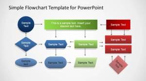 Simple PowerPoint Flowchart Diagram  SlideModel
