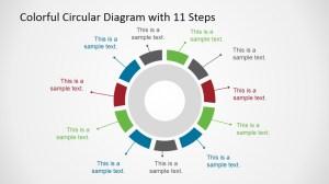 Colorful 11 Steps Circular Diagram for PowerPoint  SlideModel
