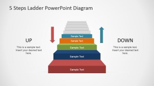 5 Steps Ladder PowerPoint Diagram  SlideModel