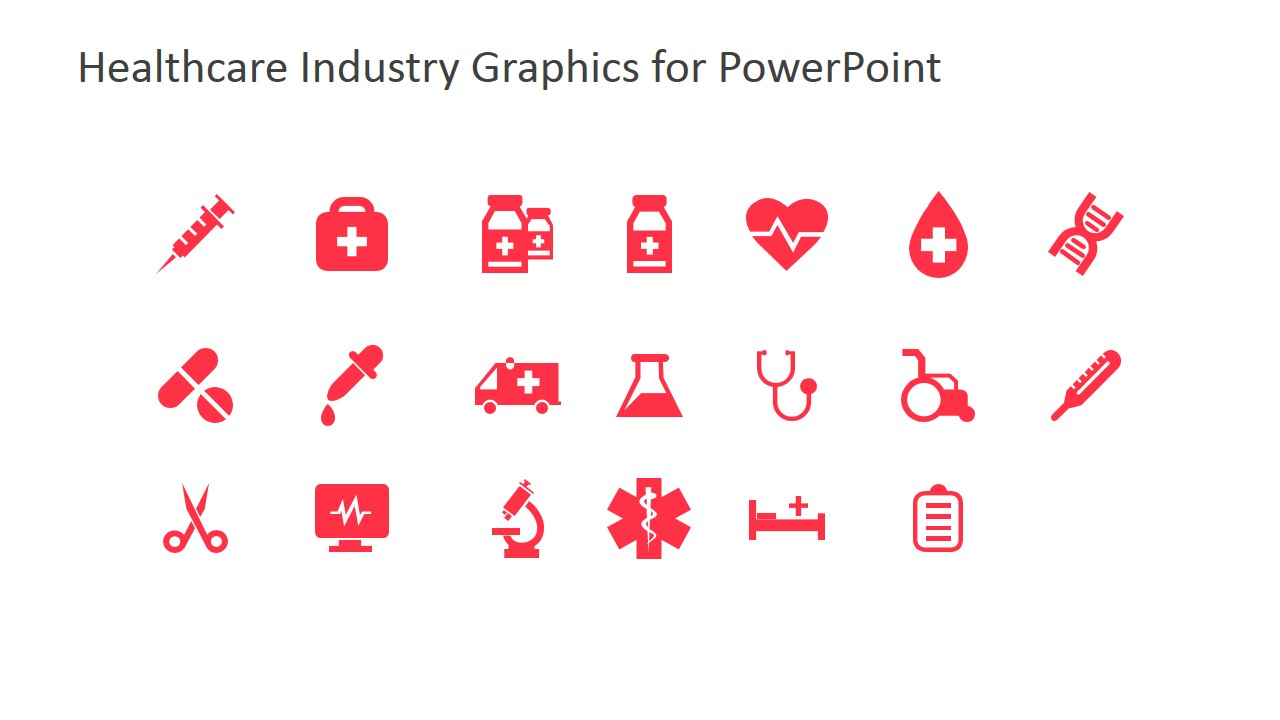 Clip Art Icons For Powerpoint Featuring Medicine Slidemodel