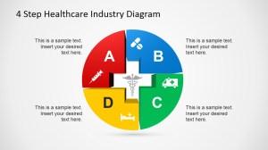 4 Step Healthcare Diagram Template for PowerPoint  SlideModel