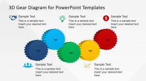 5 Steps 3D Gear Diagram for PowerPoint  SlideModel