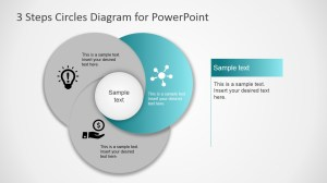Highlight Second Step Circular Diagram for PowerPoint