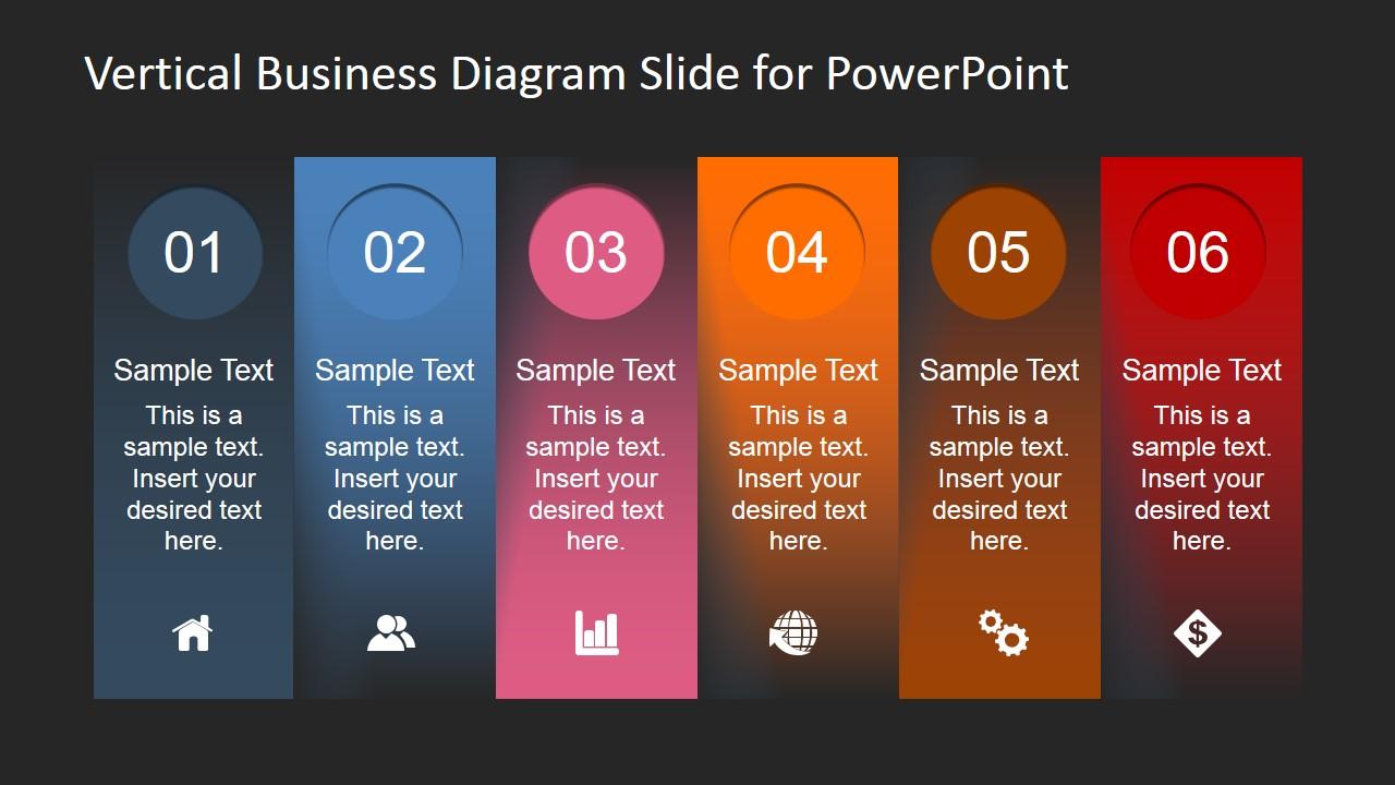 Vertical Business Diagram Slide For PowerPoint SlideModel