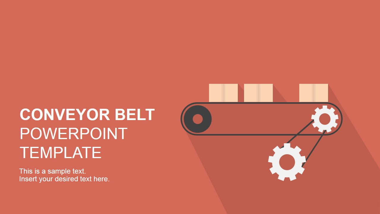 Flat Conveyor Belt PowerPoint Template SlideModel