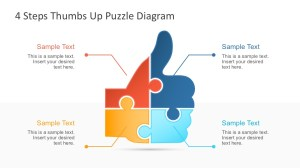 4 Step Thumbs Up Puzzle PowerPoint Template  SlideModel