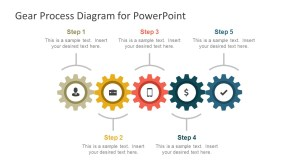 Gear Process Diagram PowerPoint Template  SlideModel
