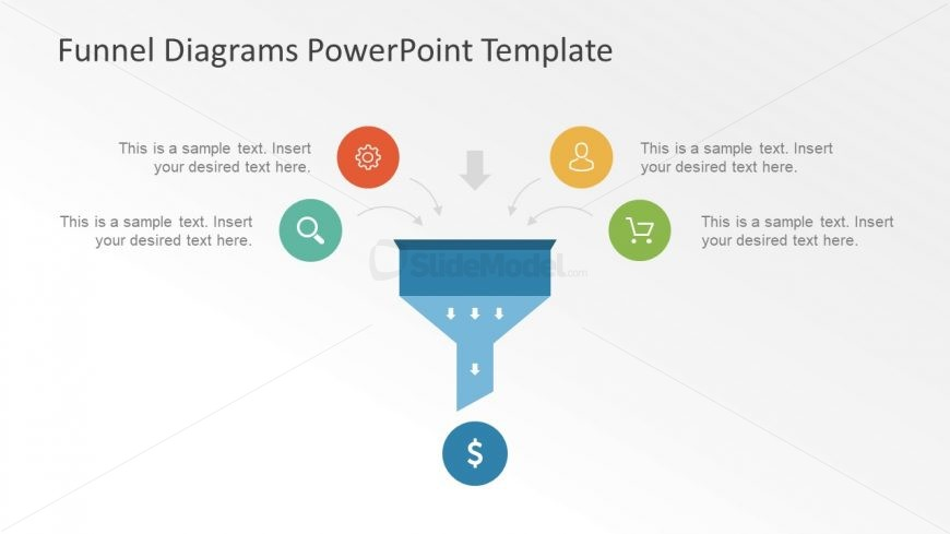 Icons Input In Funnel Diagram Presentation
