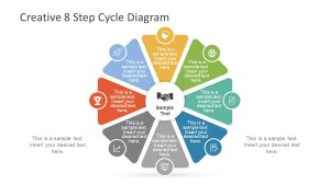 Creative 8 Step Cycle Diagram for PowerPoint  SlideModel