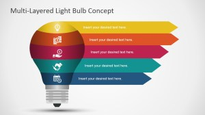 Free Layered Light Bulb Diagram for PowerPoint  SlideModel