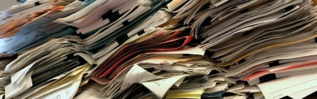Papers pile