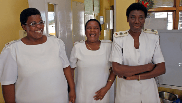 Nurses at the Mochudi Hospital